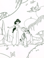 Walt disney Coloring Pages - Princess melati & Rajah