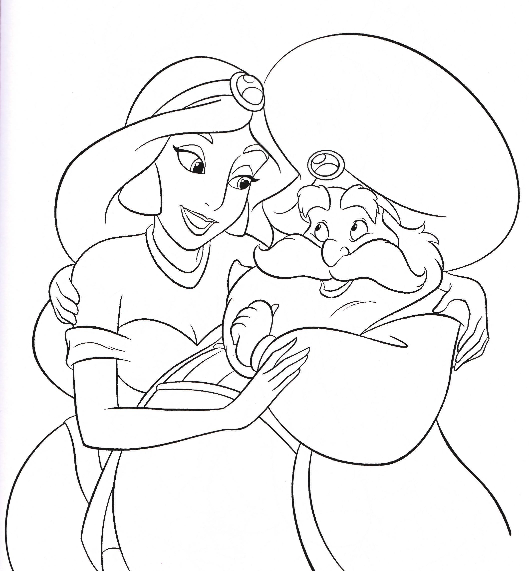 Walt Disney-Figuren Bilder Walt Disney Coloring Pages - Princess ...