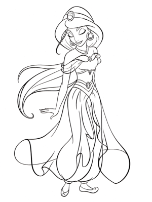 Walt Disney Coloring Pages - Princess hoa nhài
