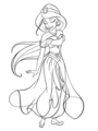 Walt disney Coloring Pages - Princess jazmín