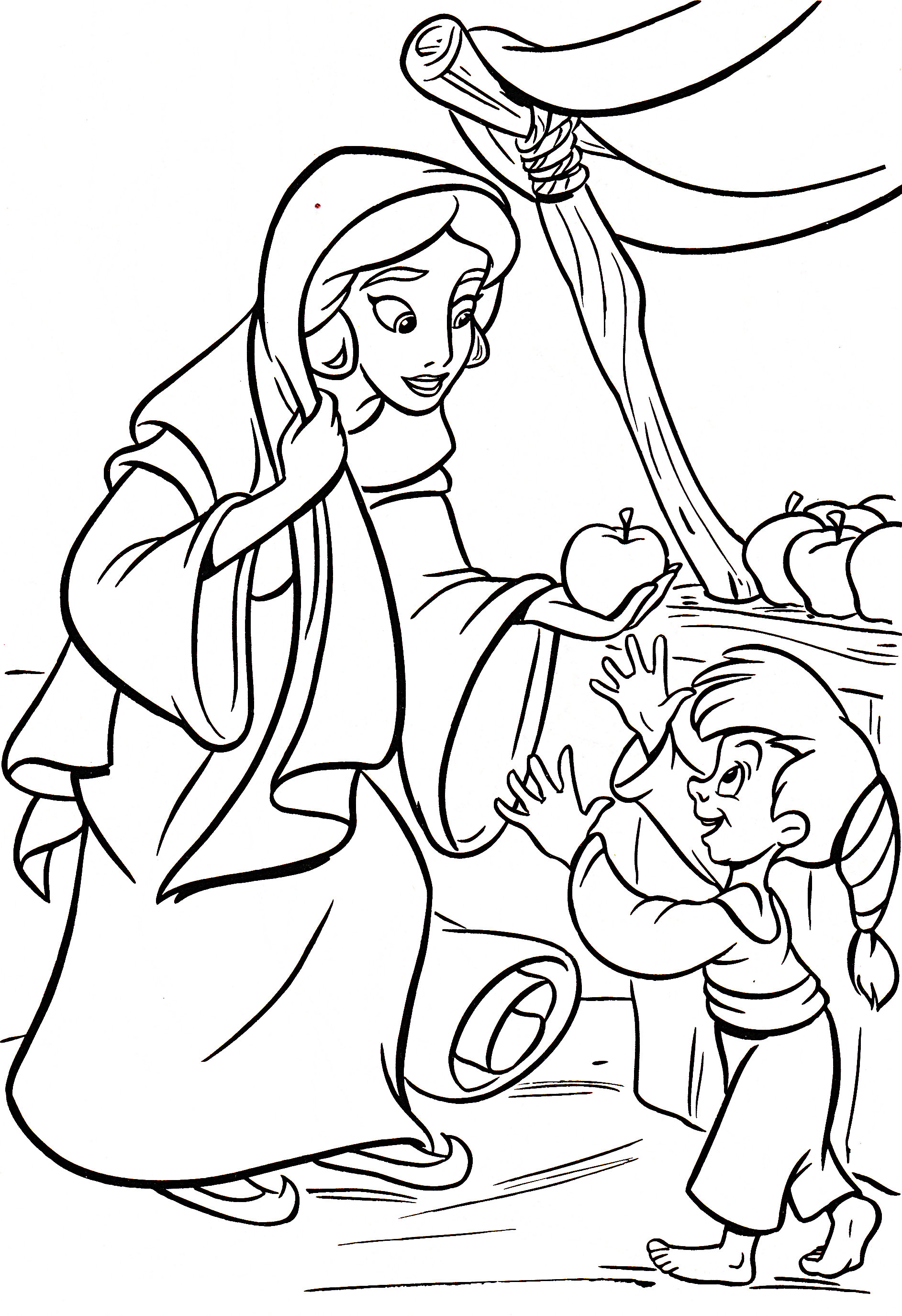 Colouring Pages Disney Jasmine : Walt disney coloring pages princess jasmine