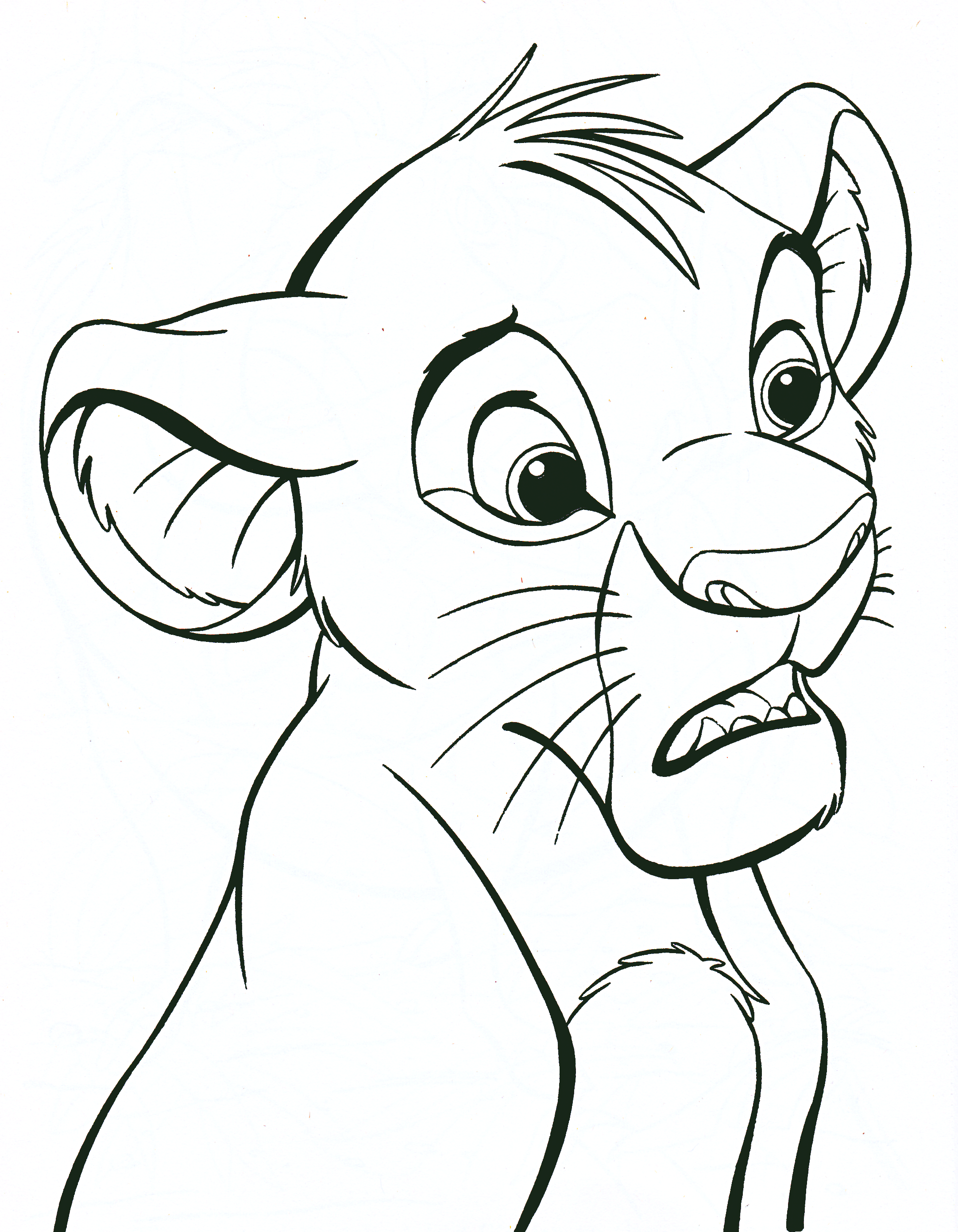 Walt Disney Coloring Pages - Simba - Walt Disney ...