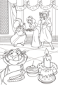 Walt 디즈니 Coloring Pages - The Sultan, Princess Jasmine, Prince Aladdin, Abu & Rajah