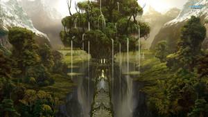 Waterfall Town