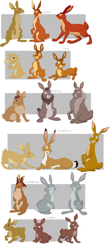 Watership Down TV Series वॉलपेपर entitled Watership Down Characters