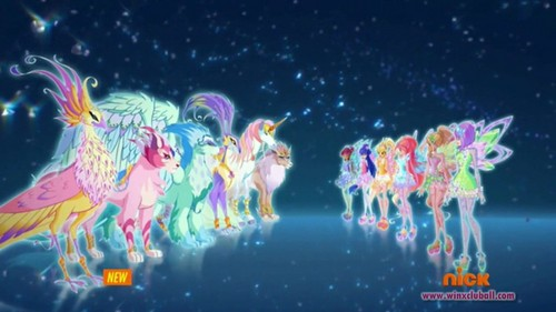 Winx Club wallpaper called Winx Tynix and evolved Magical Pets