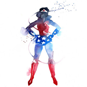 Wonder Woman watercolour