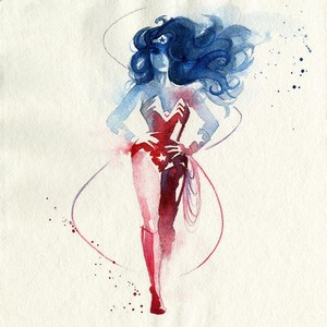Wonder Woman watercolour