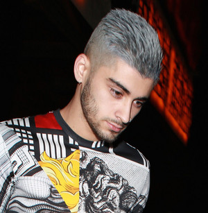 Zayn Steps Out with Gray Hair