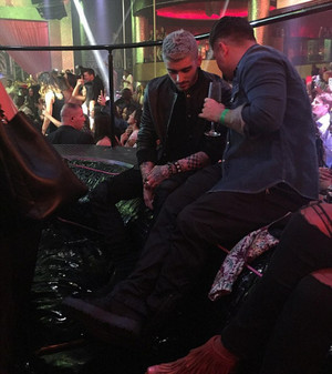 Zayn at Drai's nightclub in Las Vegas