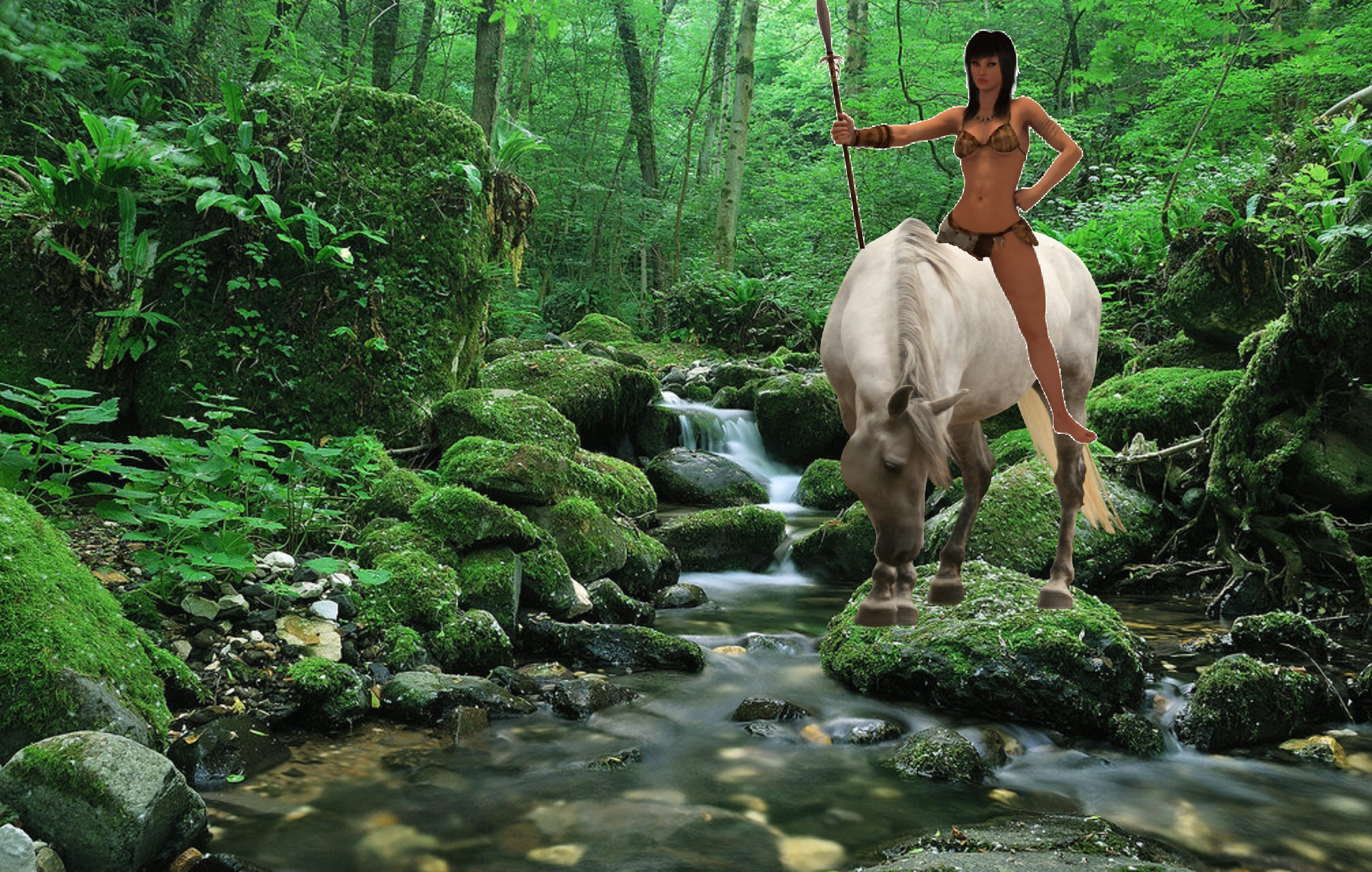 jungle girls images a jungle girl riding on her beautiful