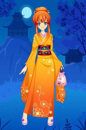 日本动漫 和服 girl