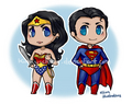 chibi superman  - superman-and-wonder-woman fan art