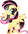 goth Fluttershy - fluttershy photo