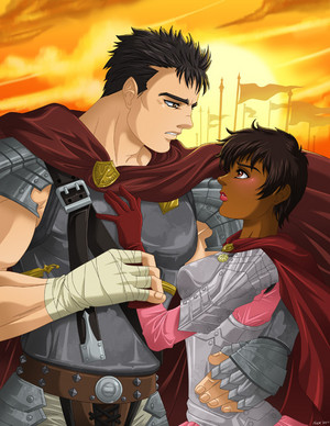 guts and casca by fallenmessiahx/deviantart