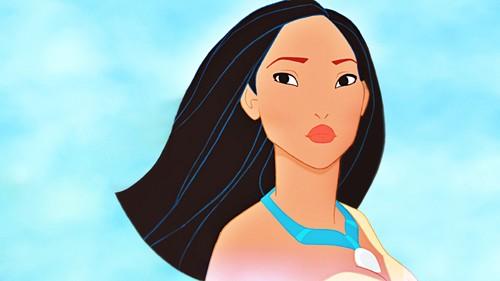 ডিজনি জগতের রাজকন্যা দেওয়ালপত্র possibly with a portrait called Walt ডিজনি প্রতিমূর্তি - Pocahontas with Short Hair