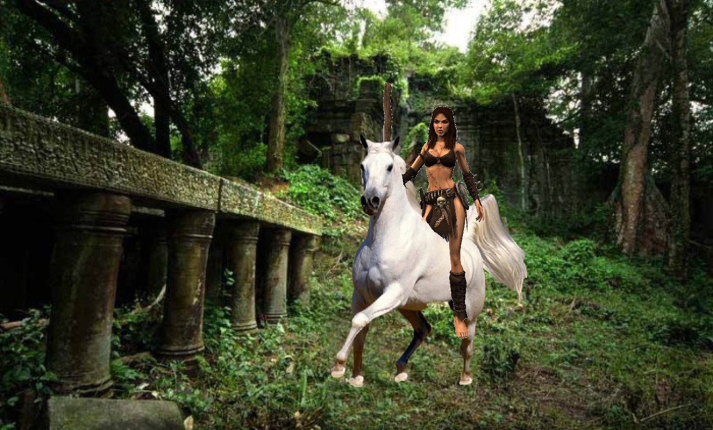 jungle girls images jungle girl exploring the ancient