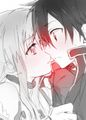 kiss SWORD ART ONLINE - sword-art-online photo