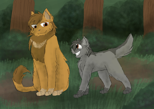 lionheart and graypaw kwa cascadingserenity d5jmyss