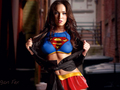 megan cáo, fox nude topless breast body paint supergirl