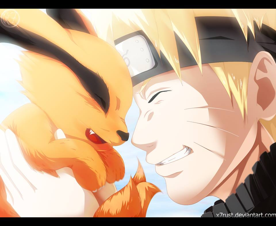 Naruto and kurama