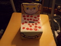 stampy money box that i made at school