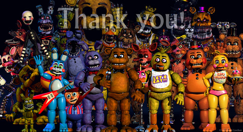 Five Nights at Freddy's achtergrond probably with anime titled thankyou.jpg