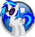 vynil scratch icon - my-little-pony-friendship-is-magic icon