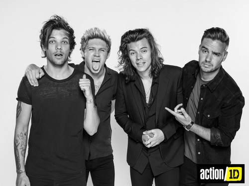One Direction fond d'écran with a business suit called Action/1D