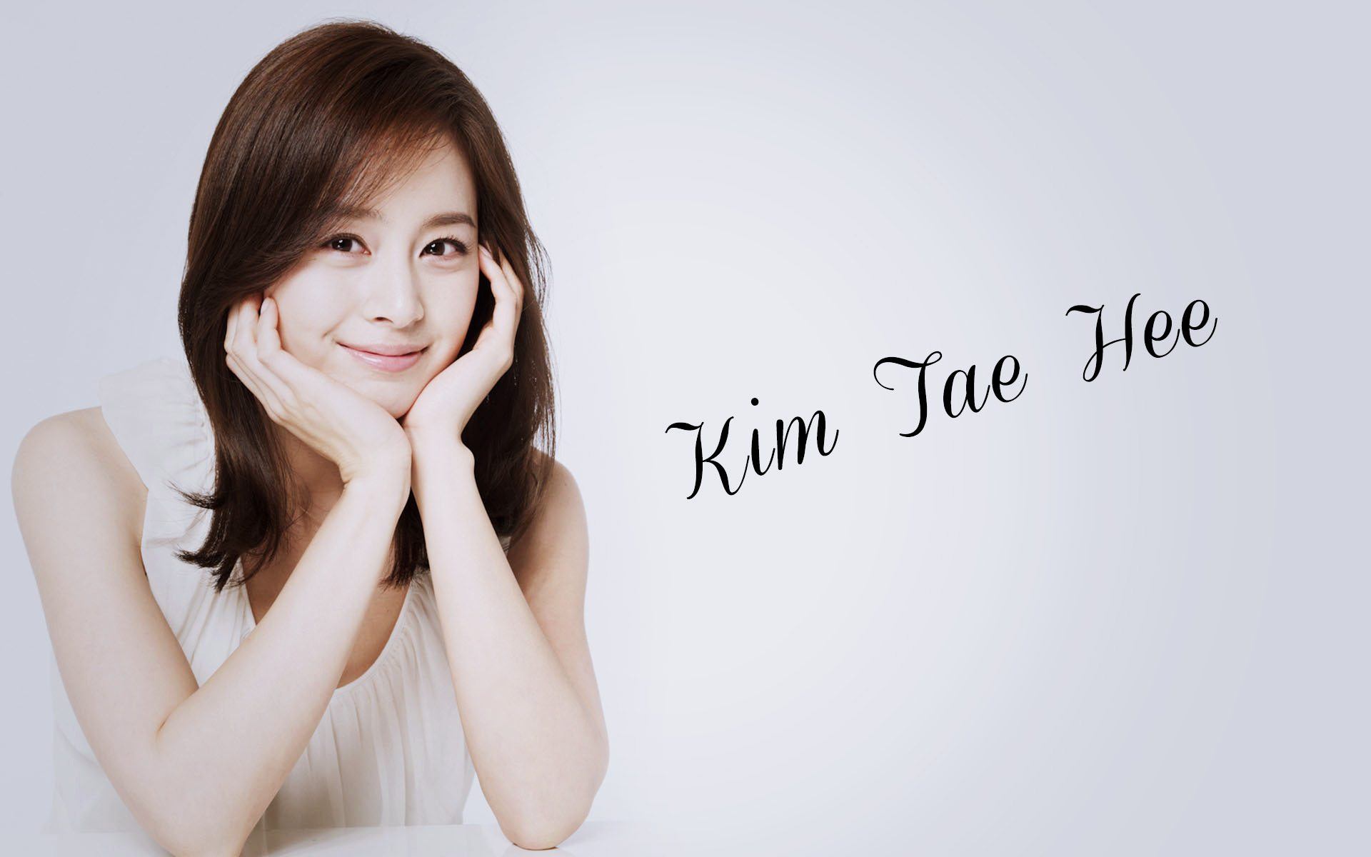 Kim Tae Hee Hình Nền Containing A Portrait Called Kim Tae Hee