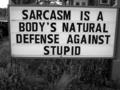 Sarcasm - quotes photo