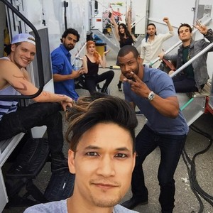 'Shadowhunters' on set