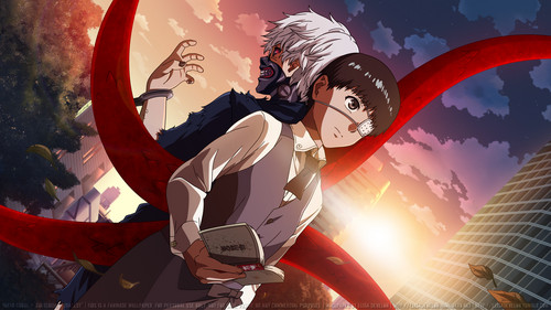 Tokyo Ghoul karatasi la kupamba ukuta possibly containing a meteorological balloon and anime entitled ººTokyo Ghoulºº