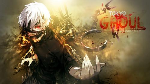 Tokyo Ghoul karatasi la kupamba ukuta titled ººTokyo Ghoulºº