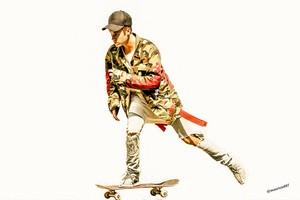 justin bieber ,skateboarding,2015