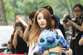 150821 T-ara Jiyeon way to music show - t-ara-tiara photo