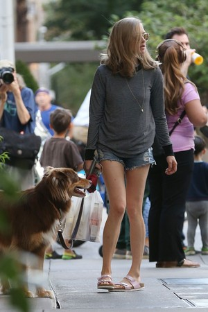 150827 Amanda Seyfried and Her Dog Finn Out in New York
