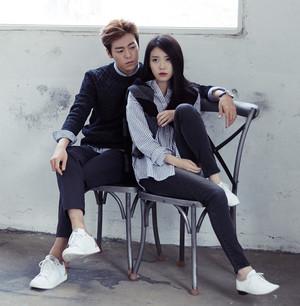 150831 IU and Hyunwoo for UNIONBAY