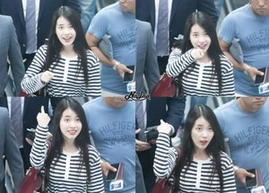 150912 IU at Incheon Airport Leaving for Hong Kong