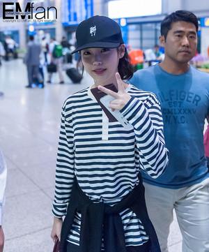 150913 IU(アイユー) at Incheon Airport back from Hong Kong