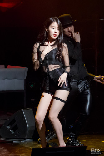 iu wallpaper with a hip boot, bare legs, and hosiery entitled 150920 iu performing 'I'm 23' at 7th Debut Anniversary Fanmeeting