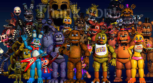 Five Nights at Freddy's پیپر وال entitled 2 ڈیٹس اپ in one دن scott?