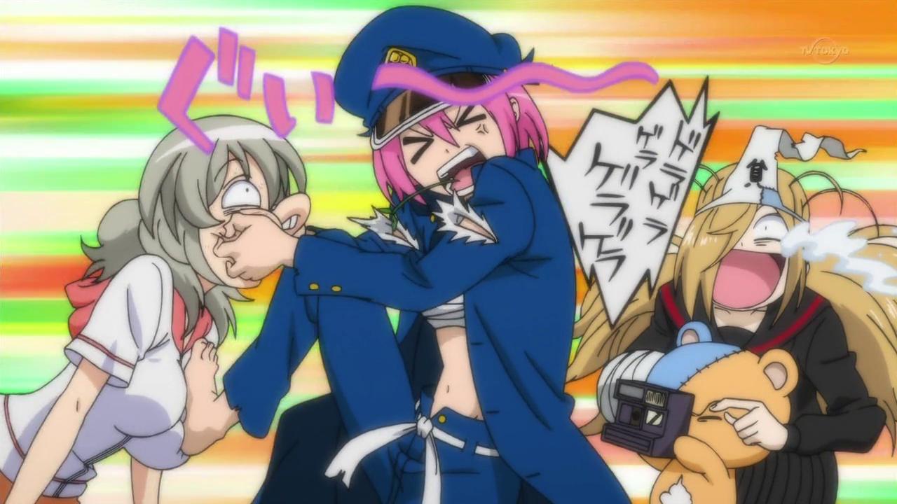 Binbougami ga! imagens Rindo trying to pull off Ichiko#39s false ...