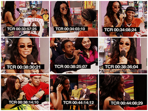 Aaliyah hosting TRL & interacting with fans ♥
