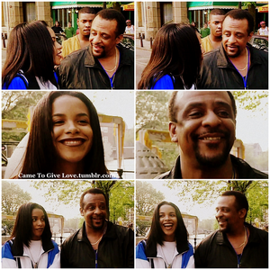 Aaliyah with her Dad Michael in Amsterdam (1995) ♥