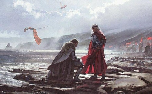 A Song of Ice And api, kebakaran kertas dinding entitled Aegon Targaryen-King in the north