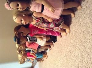 All my dolls