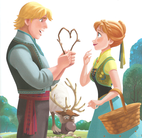 Frozen Fever Hintergrund titled Anna and Kristoff
