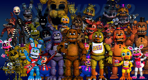 "Five Nights at Freddy's wallpaper probably with anime entitled Another update to ""fnafworld"""