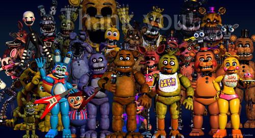 Five Nights at Freddy's wallpaper probably containing Anime entitled Another updated thankyou image from scottgames